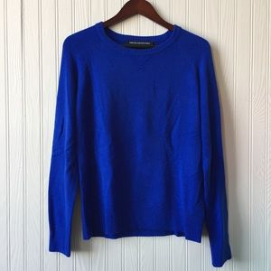 FRENCH CONNECTION Cobalt Blue Pullover Sweater L